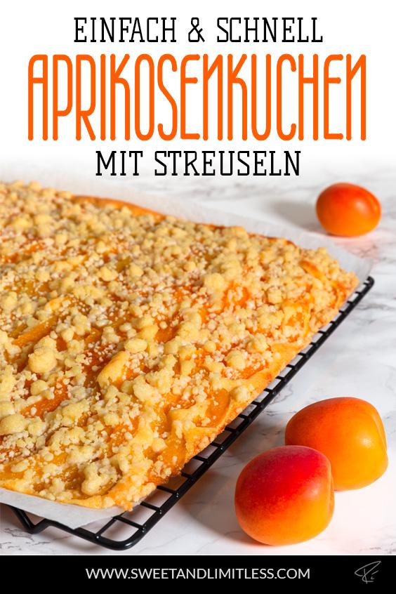 Aprikosenkuchen mit Streuseln Pinterest Cover
