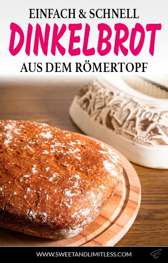 Dinkelbrot aus dem Römertopf Pinterest Cover