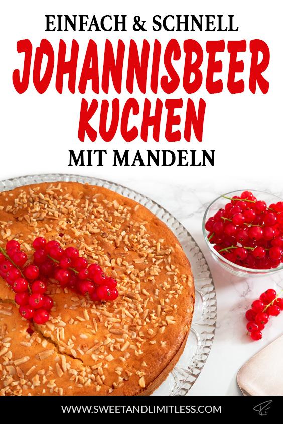 Johannisbeerkuchen mit Mandeln Pinterest Cover