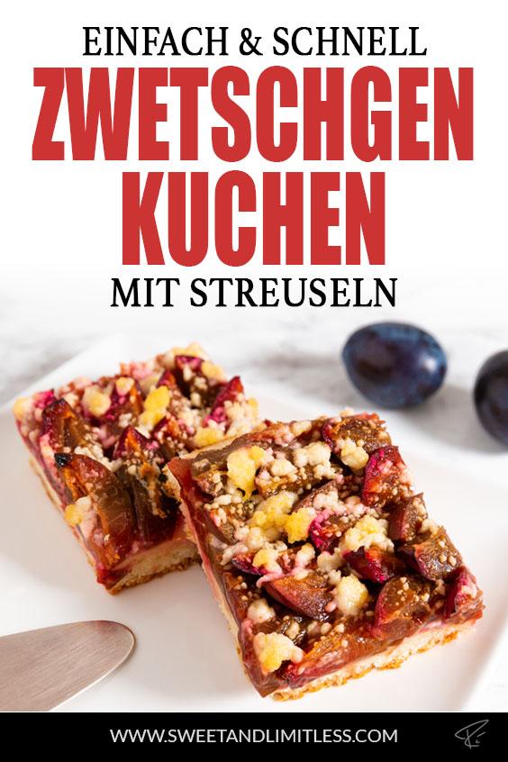 Zwetschgenkuchen mit Streuseln Pinterest Cover