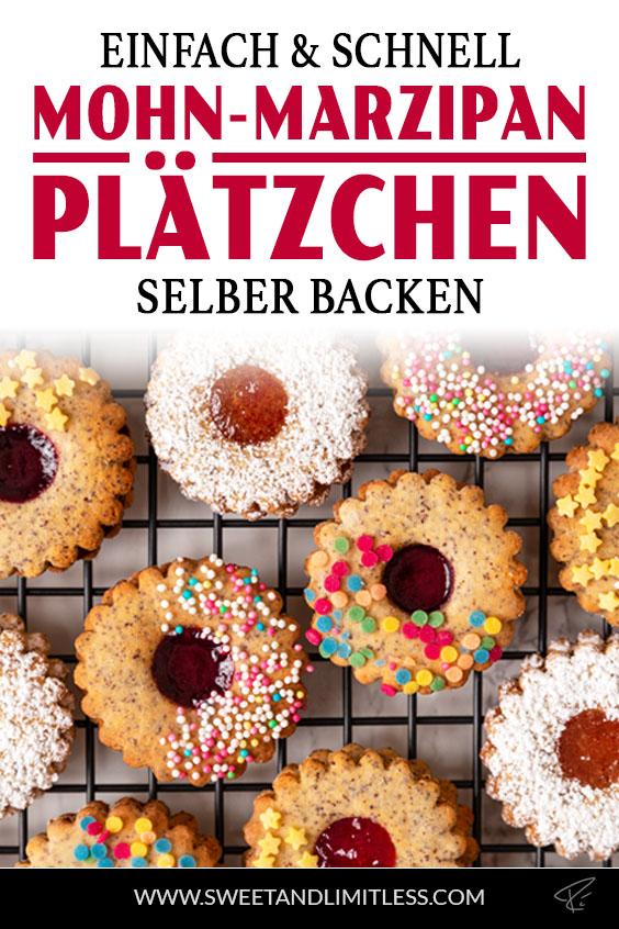 Mohn-Marzipan-Plätzchen Pinterest Cover