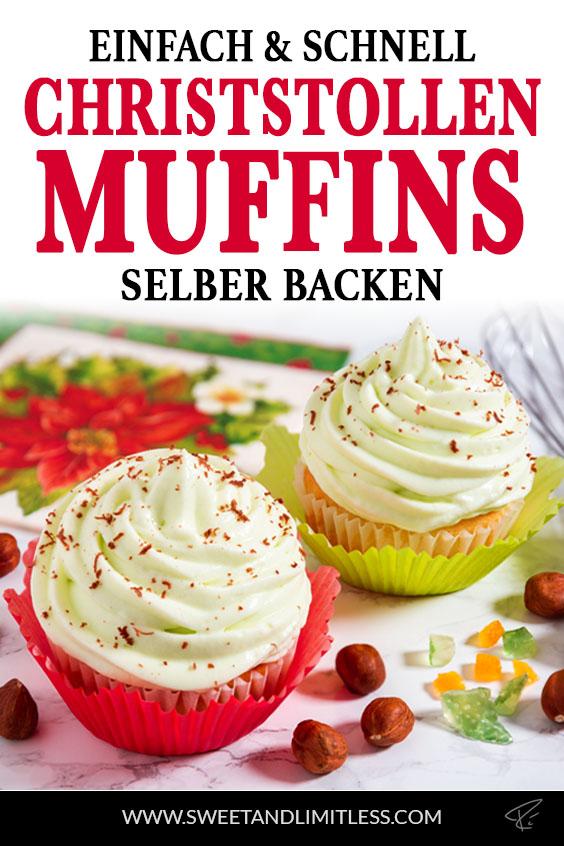 Christstollen Muffins Pinterest Cover