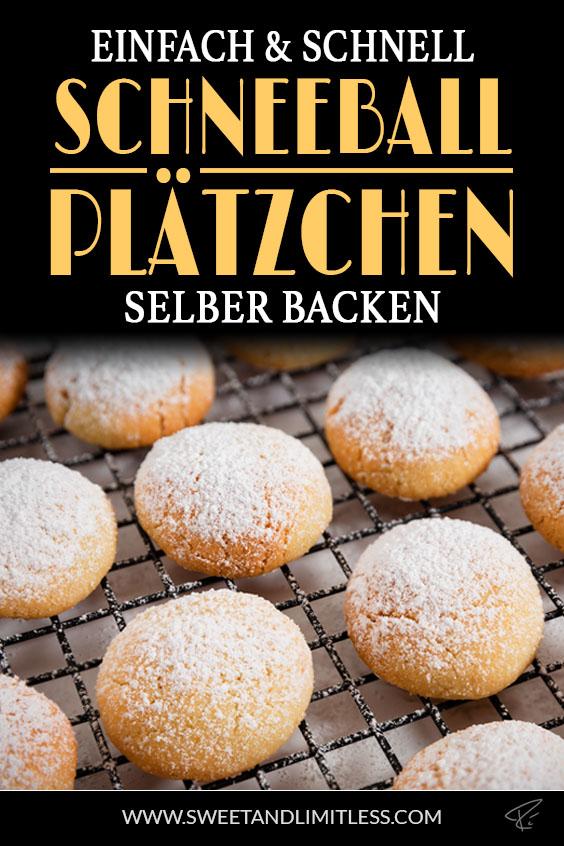 Schneeball-Plätzchen Pinterest Cover