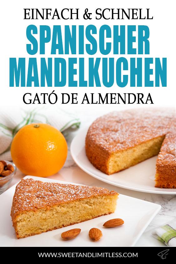 Spanischer Mandelkuchen gató de almendra Pinterest Cover