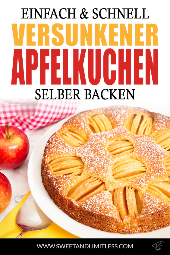 Versunkener Apfelkuchen Pinterest Cover