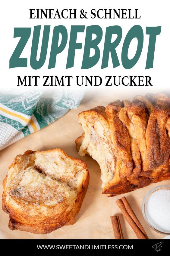 Zupfbrot mit Zimt und Zucker Pinterest Cover