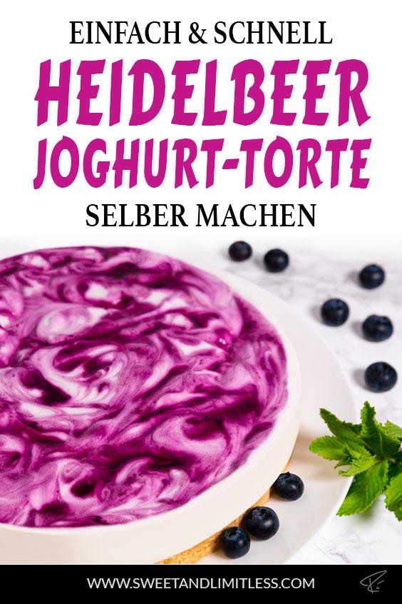 Heidelbeer-Joghurt-Torte Pinterest Cover