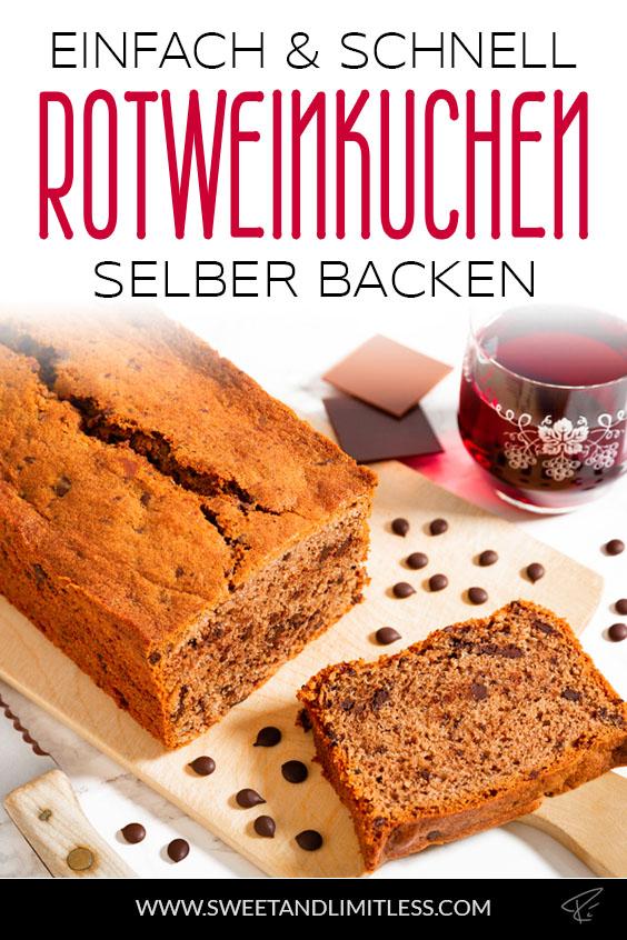 Rotweinkuchen mit Schokolade Pinterest Cover